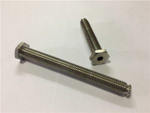 No.64-Hollow Titanium Ամրակող միջով անցք Titanium խառնուրդով 6Al4V Սպասքի Գլուխ Ալեն Բանալի