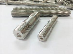 No.80-duplex 2205 S32205 2507 S32750 1.4410 բարձրորակ ապարատային ամրացվող փայտե թելերով ձող խարիսխ