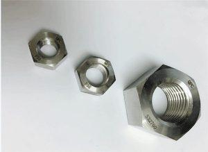 Duplex 2205 / F55 / 1.4501 / S32760 չժանգոտվող պողպատից ամրացումներ ծանր hex ընկույզ M20
